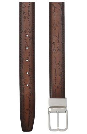Мужской кожаный ремень BERLUTI коричневого цвета, арт. C0055-001 | Фото 2