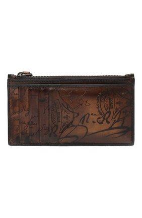 Мужской кожаный футляр для кредитных карт BERLUTI коричневого цвета, арт. N096242 | Фото 1