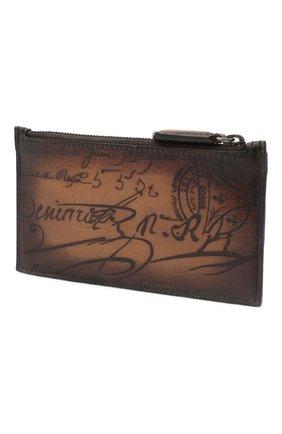 Мужской кожаный футляр для кредитных карт BERLUTI коричневого цвета, арт. N096242 | Фото 2