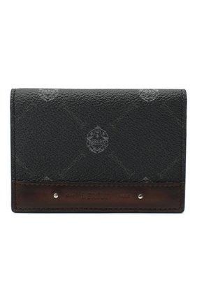 Мужской футляр для кредитных карт BERLUTI черного цвета, арт. N207371 | Фото 1