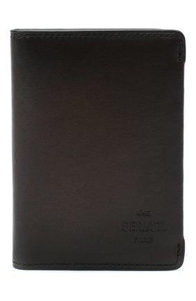 Мужской кожаный футляр для кредитных карт BERLUTI темно-коричневого цвета, арт. N211842 | Фото 1