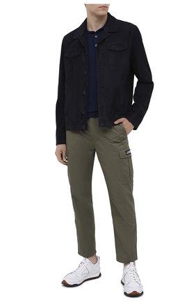 Мужское шерстяное поло BERLUTI синего цвета, арт. R18KPS05-002 | Фото 2