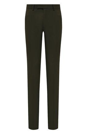 Мужской шерстяные брюки BERLUTI хаки цвета, арт. R18TTU41-005 | Фото 1