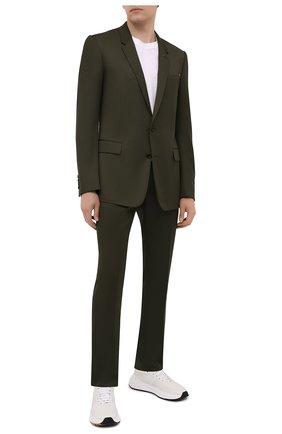 Мужской шерстяные брюки BERLUTI хаки цвета, арт. R18TTU41-005   Фото 2