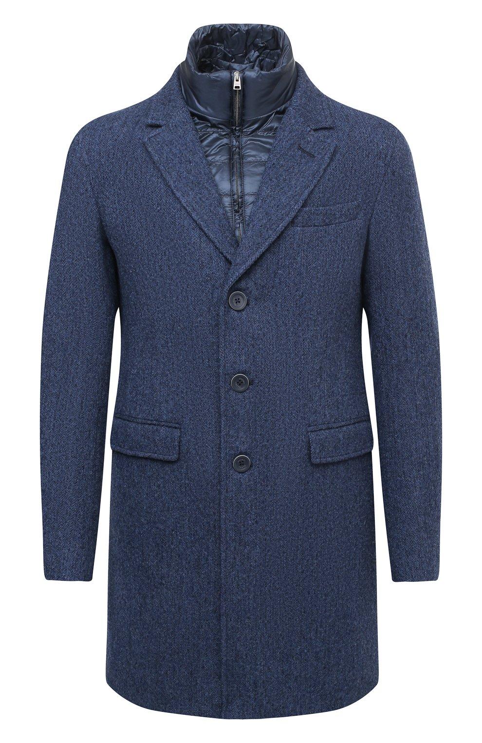 Мужской шерстяное пальто HERNO синего цвета, арт. CA0109U/33283 | Фото 1