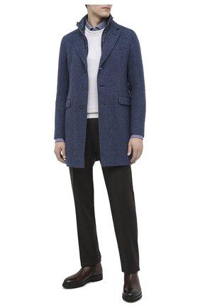 Мужской шерстяное пальто HERNO синего цвета, арт. CA0109U/33283 | Фото 2