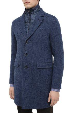 Мужской шерстяное пальто HERNO синего цвета, арт. CA0109U/33283 | Фото 3