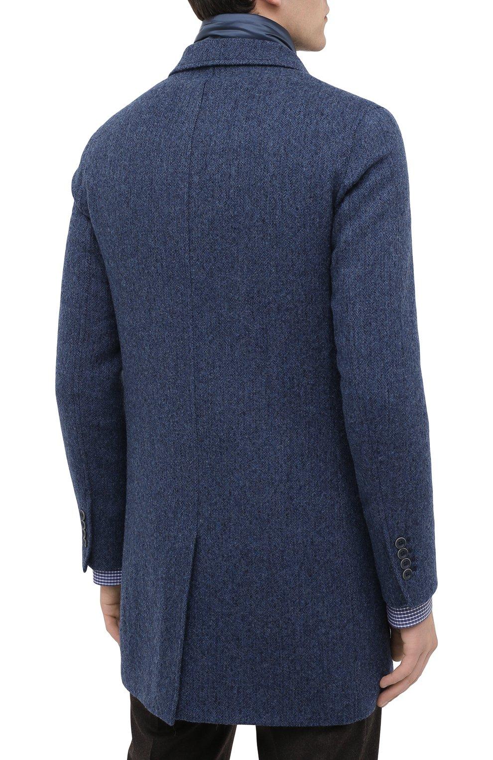 Мужской шерстяное пальто HERNO синего цвета, арт. CA0109U/33283 | Фото 4