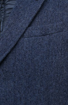 Мужской шерстяное пальто HERNO синего цвета, арт. CA0109U/33283 | Фото 5