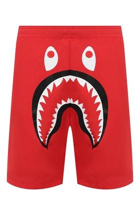 Детского плавки-шорты BAPE красного цвета, арт. 1G30153011 | Фото 1