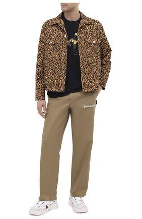 Мужская хлопковая куртка BAPE бежевого цвета, арт. 1G80140015 | Фото 2