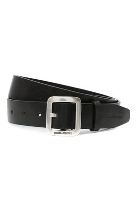 Мужской кожаный ремень DSQUARED2 черного цвета, арт. BEM0286 12900001 | Фото 1