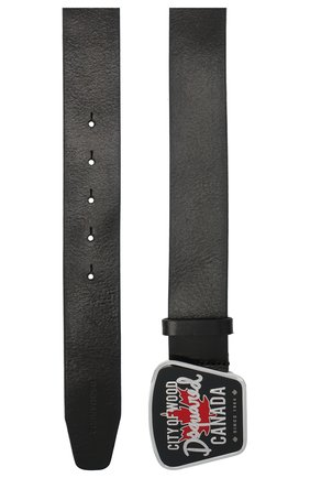 Мужской кожаный ремень DSQUARED2 черного цвета, арт. BEM0299 12900001 | Фото 2
