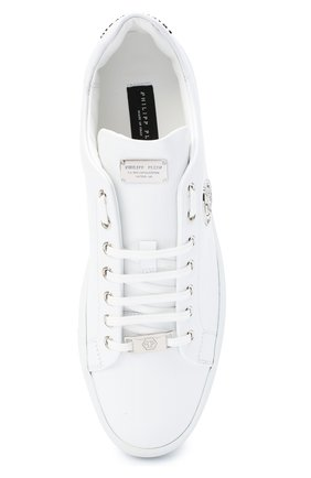 Мужские кожаные кеды PHILIPP PLEIN белого цвета, арт. F20S MSC2816 PLE045N | Фото 5