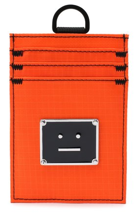 Мужской текстильный футляр для кредитных карт ACNE STUDIOS оранжевого цвета, арт. C80037/M | Фото 1