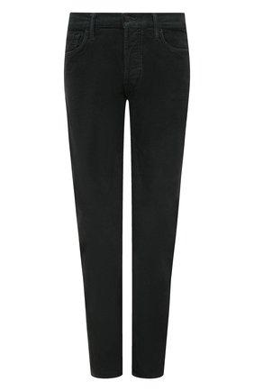 Мужские хлопковые брюки TOM FORD темно-серого цвета, арт. BVJ19/TFD002 | Фото 1 (Материал внешний: Хлопок; Длина (брюки, джинсы): Стандартные; Случай: Повседневный; Стили: Кэжуэл)