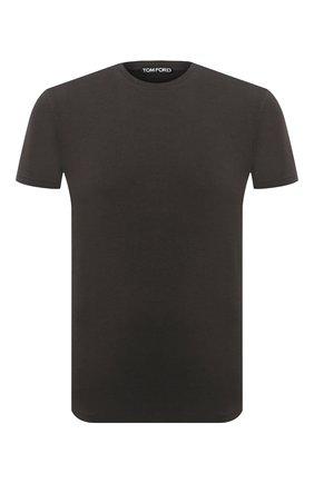 Мужская футболка TOM FORD темно-коричневого цвета, арт. BV229/TFJ950 | Фото 1