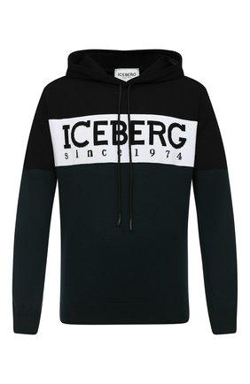 Мужской свитер из шерсти и хлопка ICEBERG разноцветного цвета, арт. 20I I1P0/A020/7010   Фото 1