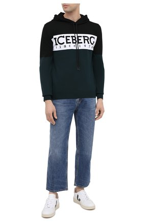 Мужской свитер из шерсти и хлопка ICEBERG разноцветного цвета, арт. 20I I1P0/A020/7010   Фото 2