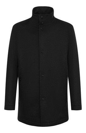 Мужской шерстяное пальто BOSS темно-серого цвета, арт. 50440308 | Фото 1
