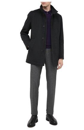 Мужской шерстяное пальто BOSS темно-серого цвета, арт. 50440308 | Фото 2