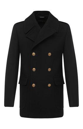 Мужской шерстяное пальто GIVENCHY черного цвета, арт. BMC0451Y7R | Фото 1