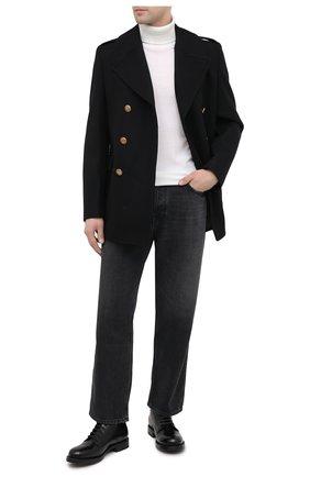 Мужской шерстяное пальто GIVENCHY черного цвета, арт. BMC0451Y7R | Фото 2