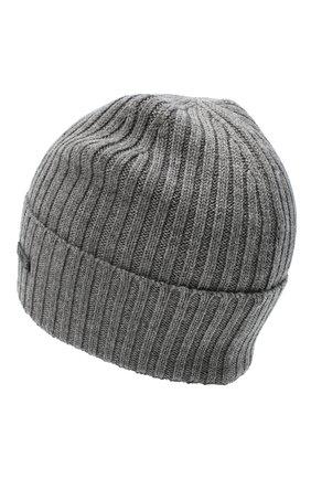 Мужская шерстяная шапка BOSS серого цвета, арт. 50435354 | Фото 2