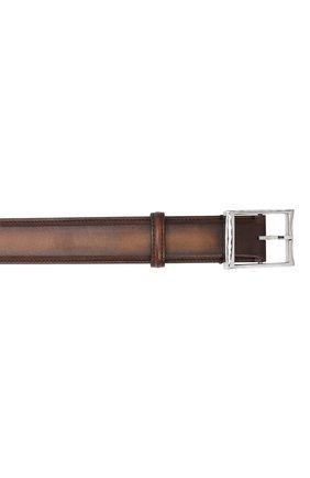 Мужской кожаный ремень BERLUTI светло-коричневого цвета, арт. C0002-018 | Фото 3