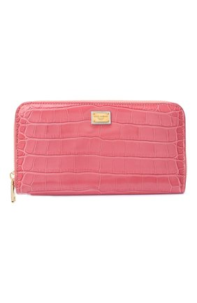 Женские кошелек из кожи аллигатора DOLCE & GABBANA розового цвета, арт. BI0473/B2DG9/AMIS | Фото 1