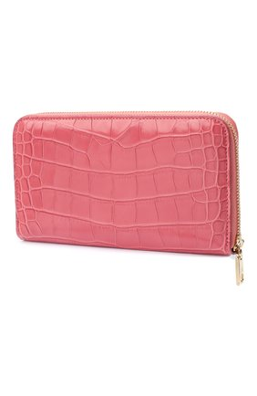 Женские кошелек из кожи аллигатора DOLCE & GABBANA розового цвета, арт. BI0473/B2DG9/AMIS | Фото 2