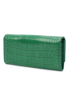 Женские кошелек из кожи аллигатора DOLCE & GABBANA зеленого цвета, арт. BI0087/B2DG9/AMIS   Фото 2 (Материал: Кожа, Экзотическая кожа)