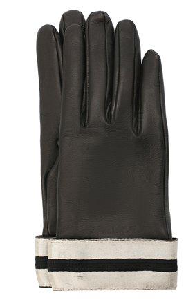 Женские кожаные перчатки GIORGIO ARMANI черного цвета, арт. 794212/0A212 | Фото 1