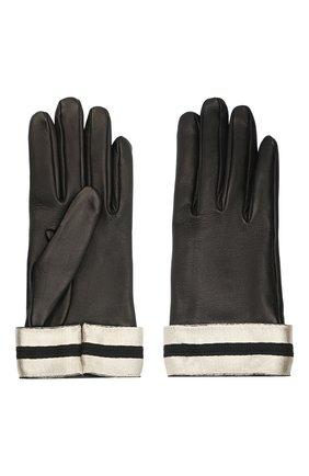 Женские кожаные перчатки GIORGIO ARMANI черного цвета, арт. 794212/0A212 | Фото 2
