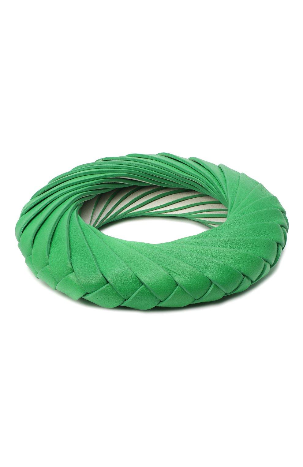 Женский браслет BOTTEGA VENETA зеленого цвета, арт. 629376/V0050 | Фото 1