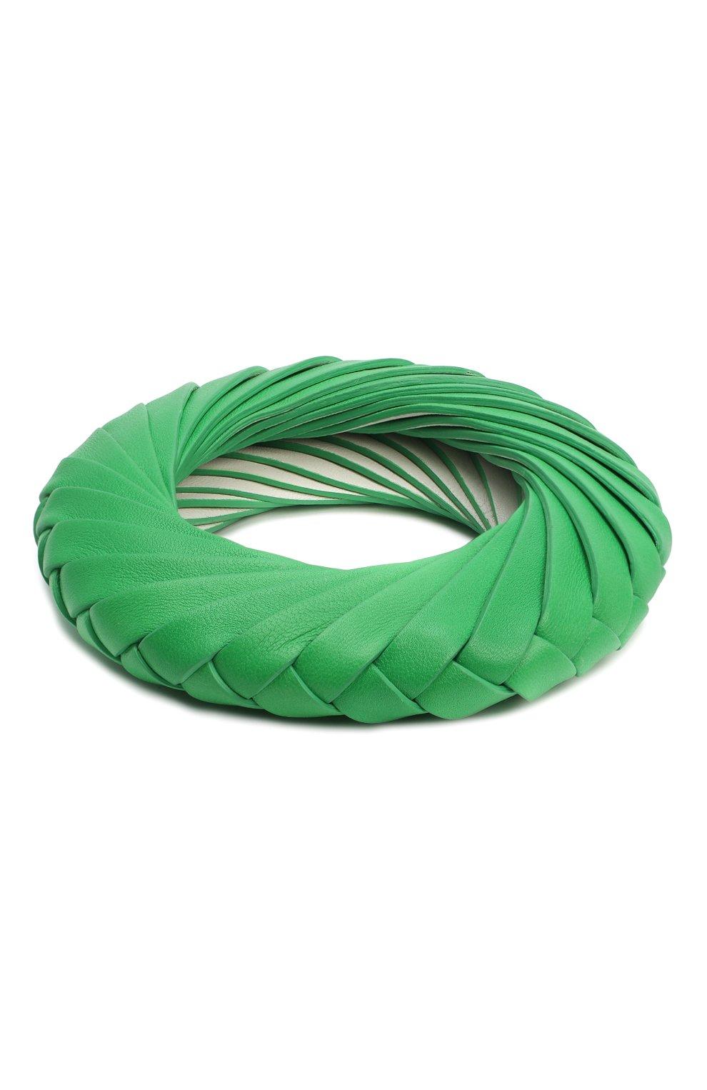 Женский браслет BOTTEGA VENETA зеленого цвета, арт. 629376/V0050 | Фото 2