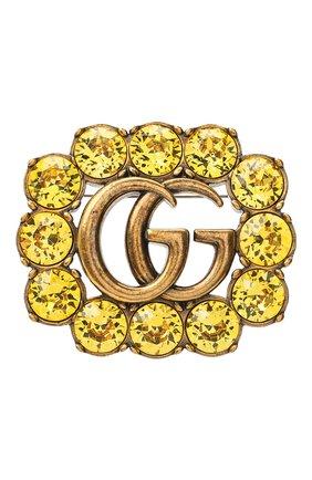 брошь gg marmont GUCCI желтого цвета, арт. 629624/I8376   Фото 1