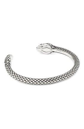 Женский браслет snake head SAINT LAURENT серебряного цвета, арт. 621391/Y1500 | Фото 1