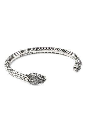 Женский браслет snake head SAINT LAURENT серебряного цвета, арт. 621391/Y1500 | Фото 2