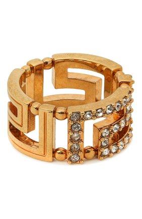 Женское кольцо greca VERSACE золотого цвета, арт. DG5H154/DJMX | Фото 1 (Материал: Металл)
