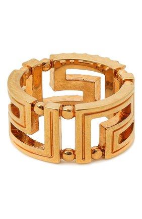 Женское кольцо greca VERSACE золотого цвета, арт. DG5H154/DJMX | Фото 2 (Материал: Металл)