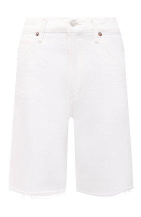 Женские джинсовые шорты AGOLDE белого цвета, арт. A9003-1183 | Фото 1