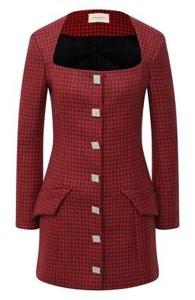Женское шерстяное платье GIUSEPPE DI MORABITO красного цвета, арт. PF20153DR-09-PDP | Фото 1