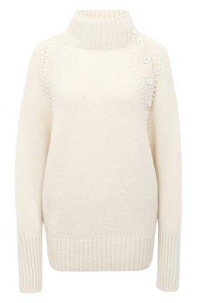 Женский свитер из шерсти и кашемира TAK.ORI белого цвета, арт. SWK74031WC030AW20 | Фото 1