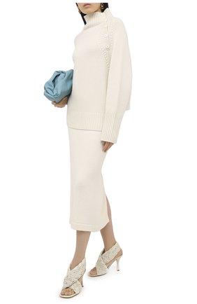 Женский свитер из шерсти и кашемира TAK.ORI белого цвета, арт. SWK74031WC030AW20 | Фото 2