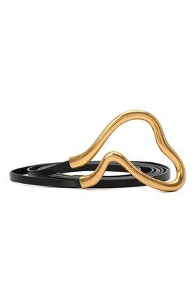 Женский кожаный ремень BOTTEGA VENETA черного цвета, арт. 640544/VCP40   Фото 1