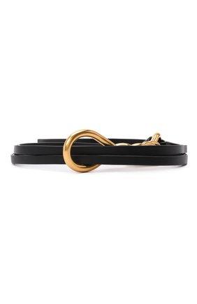 Женский кожаный ремень BOTTEGA VENETA темно-коричневого цвета, арт. 640541/VCP40   Фото 1
