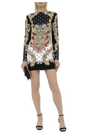 Женское платье с пайетками BALMAIN разноцветного цвета, арт. UF16382/P053 | Фото 2