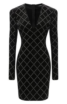 Женское платье из вискозы BALMAIN черного цвета, арт. UF16297/J063 | Фото 1