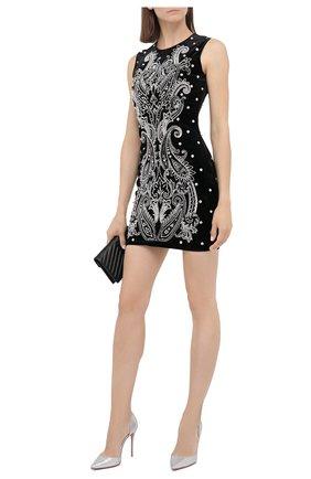 Женское платье BALMAIN черного цвета, арт. UF16342/P050 | Фото 2